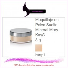 Maquillaje en Polvo Suelto Mineral Ivory 1 (Natural)